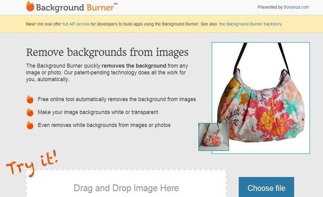 Background Burner Background Burner, quita el fondo a tus fotos con esta utilidad web