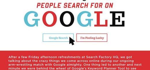 Colección de búsquedas raras realizadas en Google (infografía)