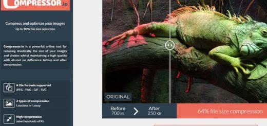Compressor: práctica utilidad web gratuita para comprimir imágenes