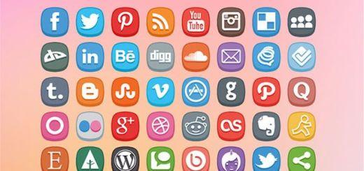 Cute Social Media Icons, iconos sociales gratuitos para tus proyectos