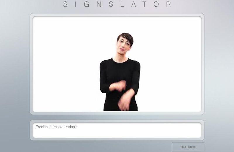 Signslator: traductor en línea de español a lenguaje de signos