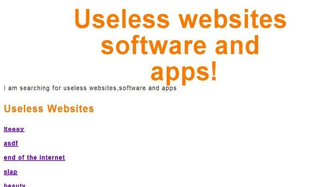 Useless websites: listado de sitios, software y aplicaciones inútiles
