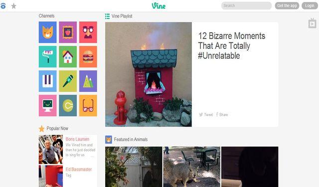 Vine convierte su web en una alternativa a YouTube con vídeos cortos