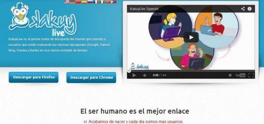 Kakuy Live, buscador que hace sociales las búsquedas en los principales motores