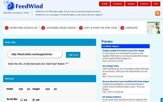 FeedWind, crea widgets para insertar canales RSS en tu sitio