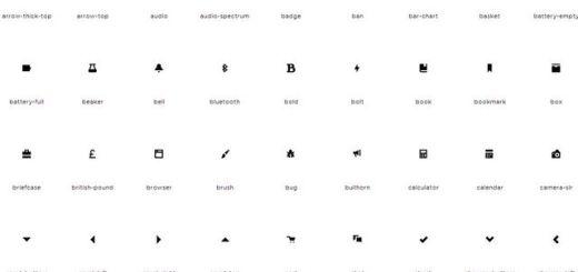Open Iconic, gran set de iconos en varios formatos y Webfont