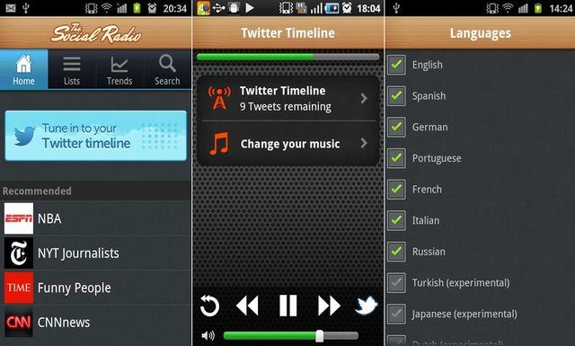 The Social Radio, escucha tu timeline de Twitter como una radio (Android e iOS)