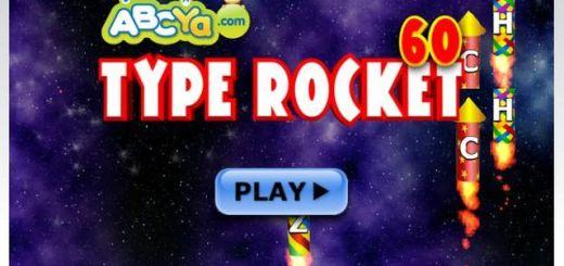 Typing Rocket, sencillo juego online para escribir más rápido