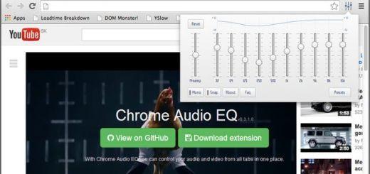 Chrome Audio EQ, un ecualizador para vídeos y audios de Chrome