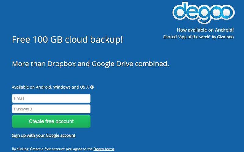 Degoo: 100 Gb gratis de almacenamiento en la nube