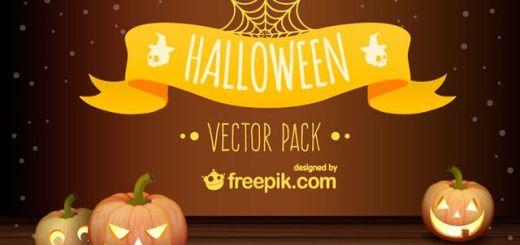 Completo set de elementos vectorizados para Halloween