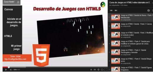 Vídeo curso para crear juego de naves en HTML5