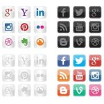 Social Icon Vectors: set de iconos vectoriales gratuitos para social media