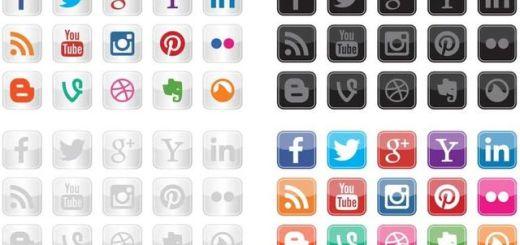 Social Icon Vectors: set de iconos vectoriales gratuitos para social media