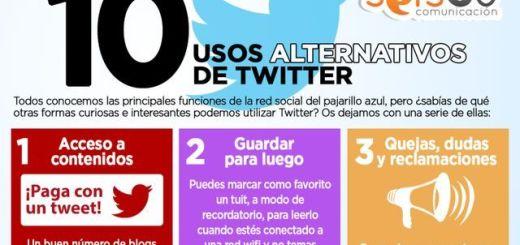 Diez usos alternativos para Twitter (infografía)
