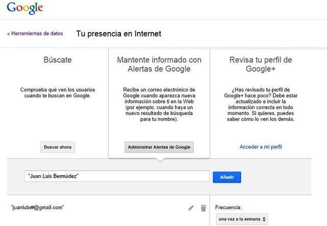 Google ya puede alertarte si alguien publica tu nombre