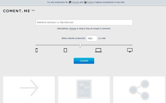 Coment me: toma screenshots de sitios, coméntalos y compártelos
