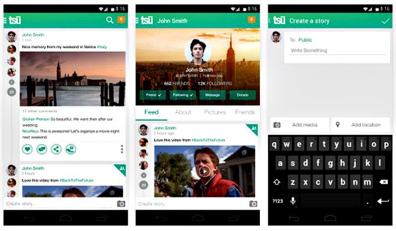 La red social tsu también dispone de apps móviles