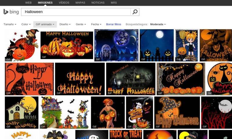 Bing también habilita la búsqueda para gifs animados
