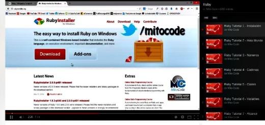 Vídeo curso gratuito para aprender a programar en Ruby