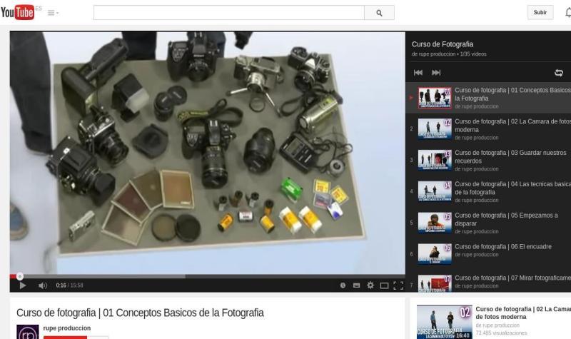 Curso gratuito de fotografía en 35 vídeos