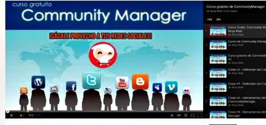 Curso gratuito de Community Manager en 11 vídeos