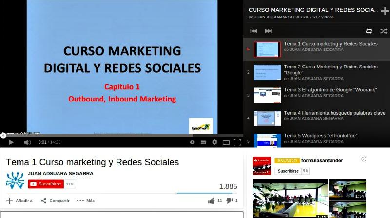 Vídeo curso gratuito de marketing digital y redes sociales