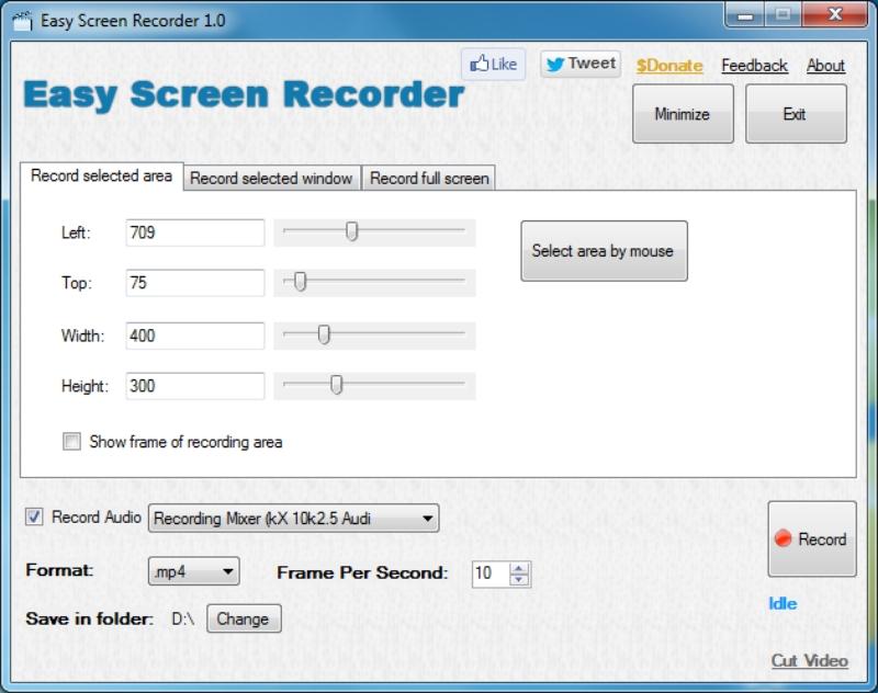 Easy Screen Recorder: graba screencasts en varios formatos