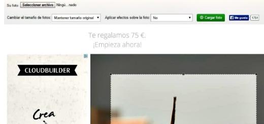Recortar fotos: utilidad web gratuita para recortar imágenes