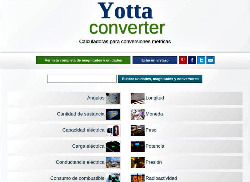Yottaconverter: el mejor convertidor de unidades online