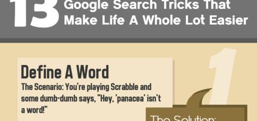 Infografía con 13 tips para facilitar tus búsquedas en Google