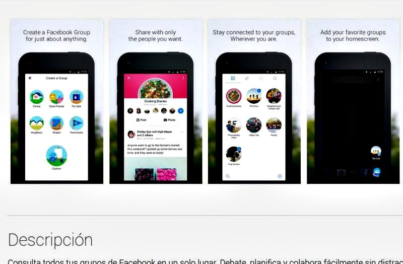 Facebook Groups: nueva app de Facebook para gestión de grupos