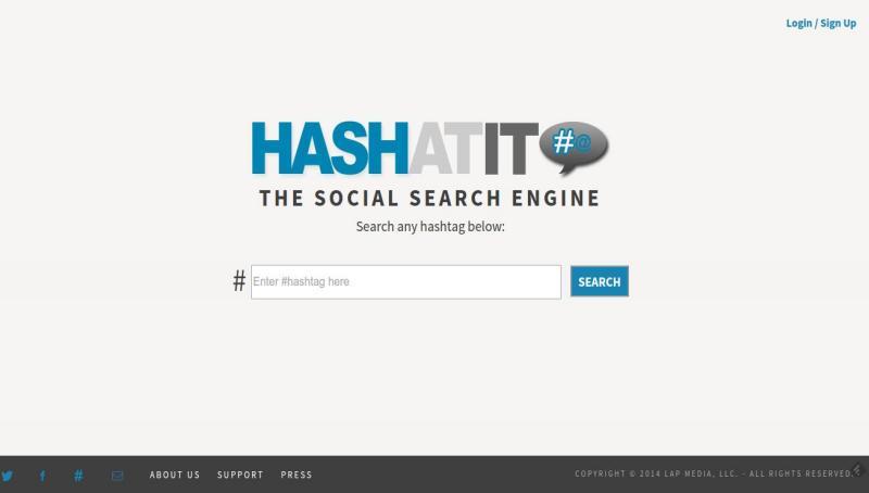 HashAtit: buscador de hashtags en Pinterest, Twitter, Instagram y Facebook