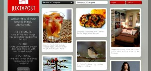 Juxtapost: una interesante red social similar a Pinterest