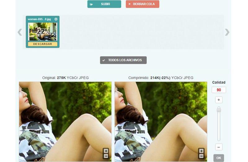 Optimizilla: utilidad web gratuita para optimizar imágenes