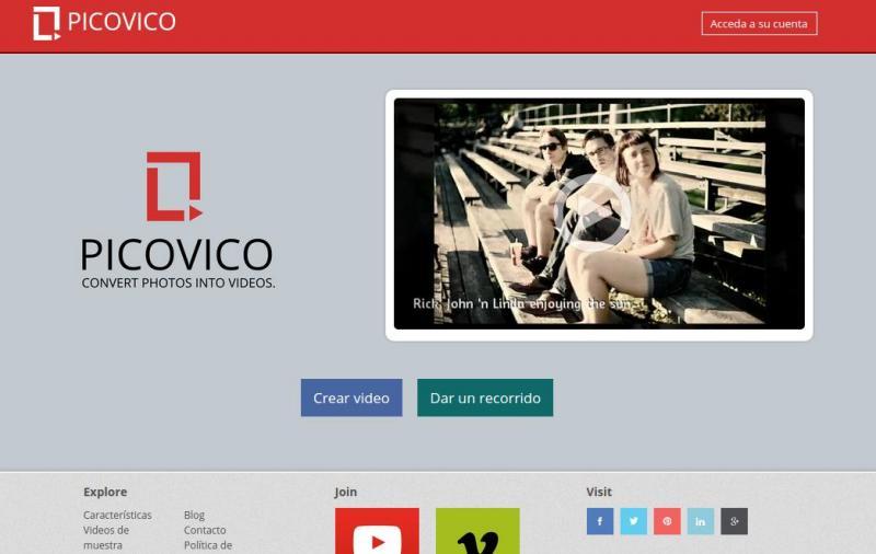 Picovico: crea bonitos vídeos con tus fotografías