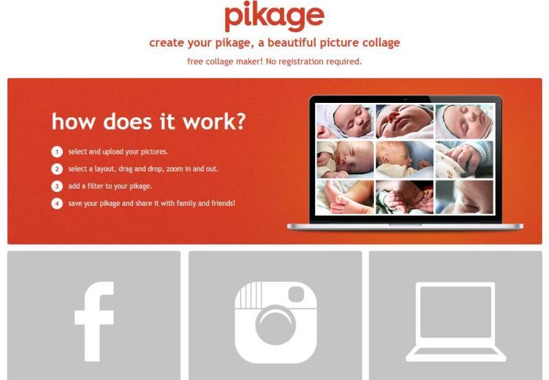 Pikage: crea online bonitos collages con tus fotografías