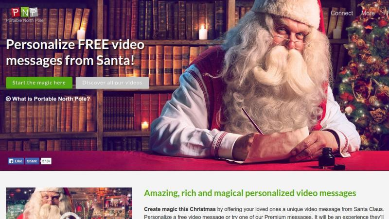 Imagenes Gratis De Papa Noel.Portable North Pole Crea Videos Personalizados Con Mensajes