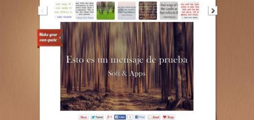 Quozio: crea imágenes con citas en texto para compartir