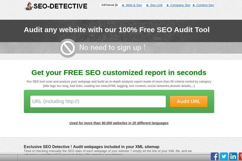 SEO Detective: completo análisis SEO para cualquier sitio