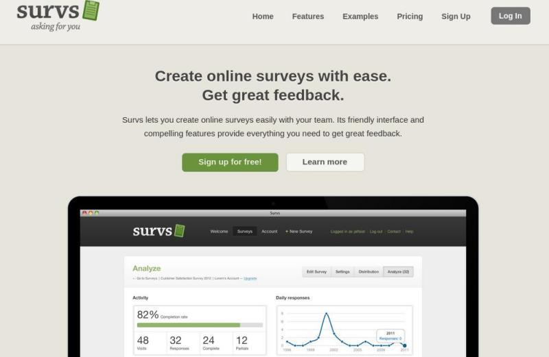 Survs: práctica utilidad web para crear encuestas