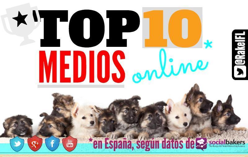 Top 10 de los medios de comunicación españoles en las redes sociales (infografía)