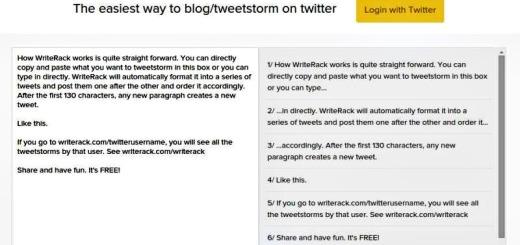 WriteRack: divide tweets largos y envíalos a Twitter