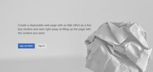 disposableWebPage: crea gratis páginas web desechables