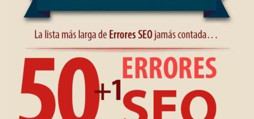 Infografía en español con 50+1 errores SEO