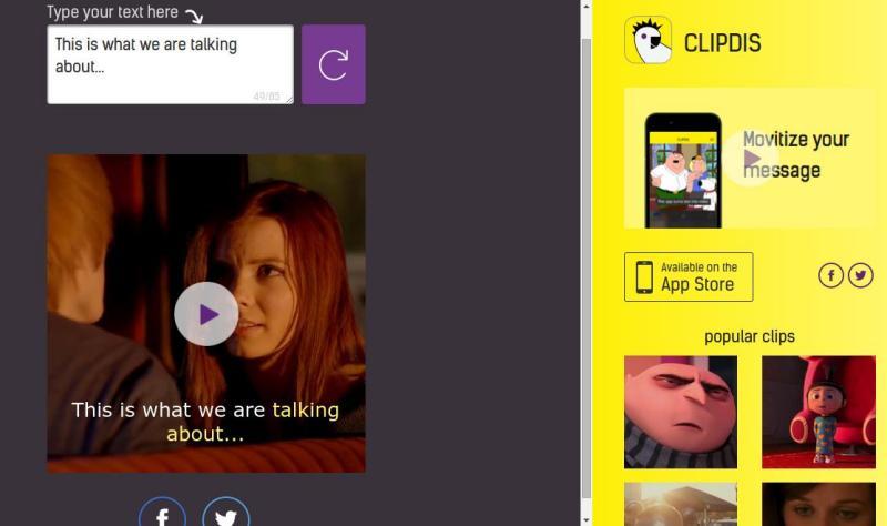ClipDis: transforma textos en vídeos con fragmentos de películas