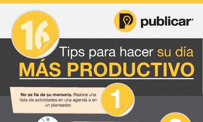 Infografía con útiles consejos para ser más productivos