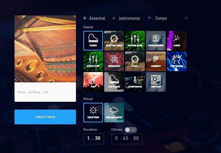 Jukedeck: generador online de música libre para tus vídeos y juegos