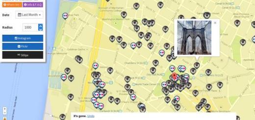 Current Location: mapa con fotos geolocalizadas de Flickr e Instagram