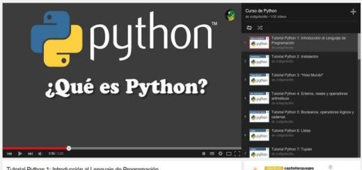 Curso gratis de programación Python en 32 vídeos